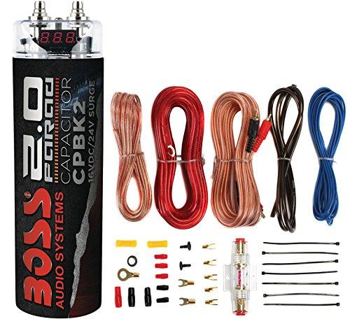 51euVOlNlpL boss cpbk2 2 farad car digital voltage capacitor power audio cap 8